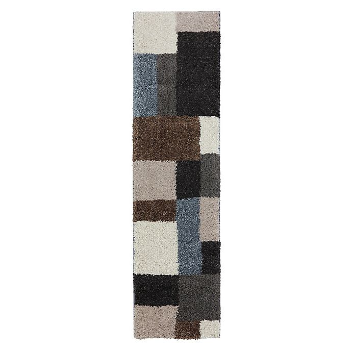 Alternate image 1 for Mohawk Home Huxley Franklin 2-Foot x 7-Foot 10-Inch Runner in Grey/Black