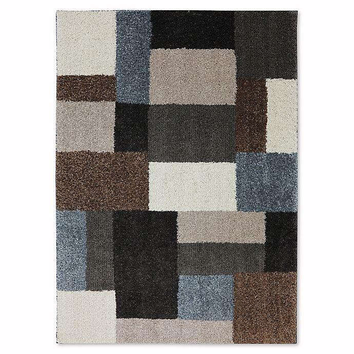 Alternate image 1 for Mohawk Home Huxley Franklin Rug in Grey/Black
