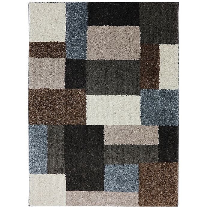 Alternate image 1 for Mohawk Home Huxley Franklin 6-Foot 6-Inch x 10-Foot Area Rug in Grey/Black