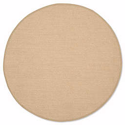 Safavieh Natural Fiber Willow 6-Foot Round Area Rug in Maize/Linen
