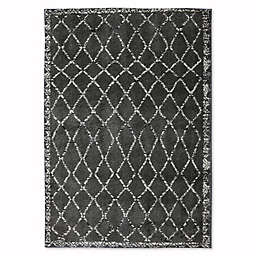 Mohawk Home Huxley Fresno Rug in Grey/Black