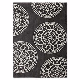 Mohawk Home Huxley Grey Medallions 5-Foot x 7-Foot Area Rug in Cocoa
