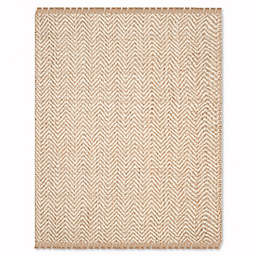 Safavieh Natural Fiber Lizette 10-Foot x 14-Foot Area Rug in Bleach/Natural