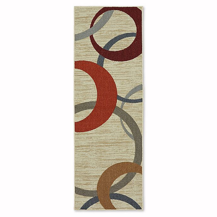 Alternate image 1 for Mohawk Home Soho Picturale 1-Foot 8-Inch x 5-Foot Runner in Rainbow