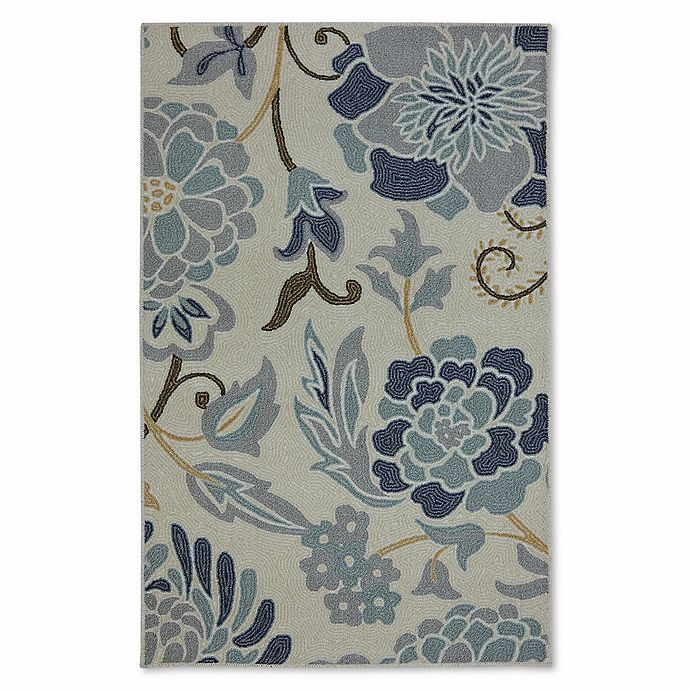 Alternate image 1 for Mohawk Home Soho Flower Power Rug in Sky Blue