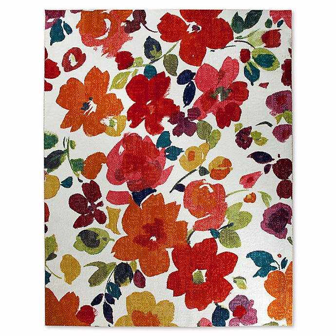 Alternate image 1 for Mohawk Home® Strata Bright Floral Toss 5-Foot x 8-Foot Multicolor Area Rug