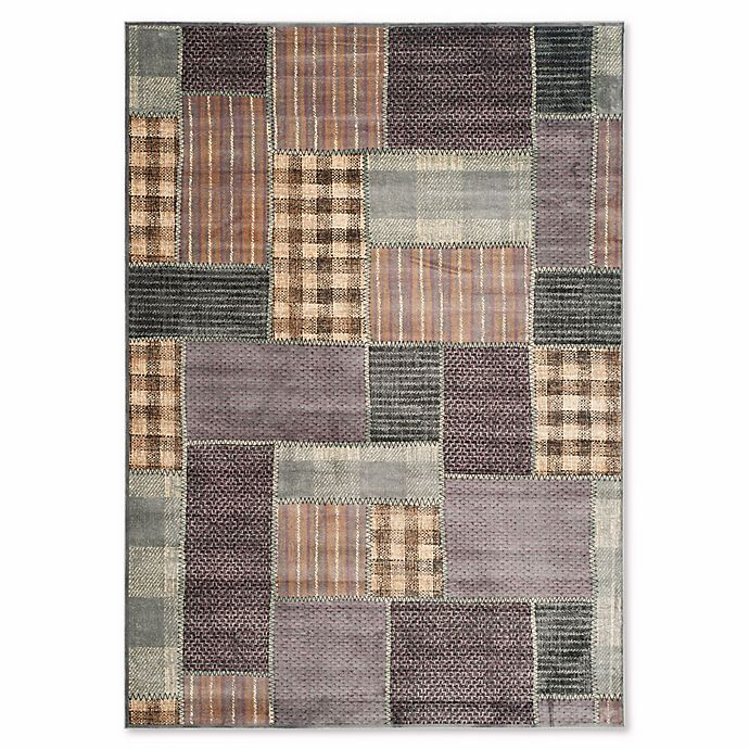 Alternate image 1 for Safavieh Vintage Patchwork Panel 6-Foot 7-Inch x 9-Foot 2-Inch Area Rug in Light Blue