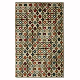 Mohawk Home Soho Nadine Celine Tile 7-Foot 6-Inch x 10-Foot Multicolor Area Rug