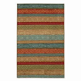 Mohawk Home Soho Samsun Batik Stripe 7-Foot 6-Inch x 10-Foot  Multicolor Area Rug