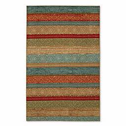 Mohawk Home Soho Samsun Batik Stripe 7-Foot 6-Inch x 10-Foot  Multicolor Area Rug