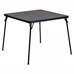 Flash Furniture Folding Card Table in Black