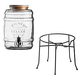 Kilner Barrel Beverage Dispenser and Stand
