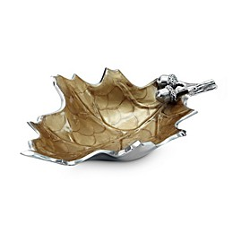 Julia Knight® Luxe Lodge Oak Leaf 13-Inch Bowl in Toffee