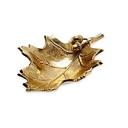 Julia Knight® Luxe Lodge Oak Leaf 13-Inch Bowl in Gold