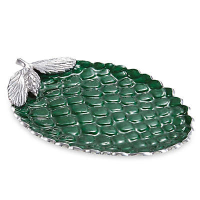 Julia Knight® Luxe Lodge Pine Cone 13-Inch Platter in Emerald