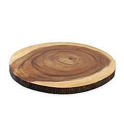 B. Smith® Faux Edge Wood Lazy Susan