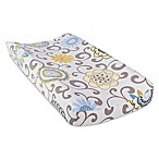 Waverly® Baby by Trend Lab® Pom Pom Spa Changing Pad Cover in Blue/Green
