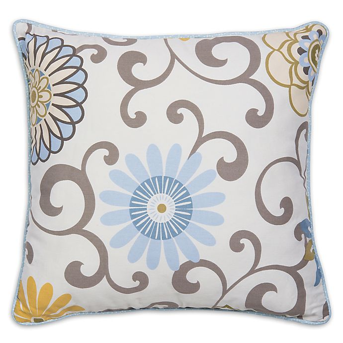 Alternate image 1 for Waverly® Baby by Trend Lab® Pom Pom Spa Decorative Pillow in Blue/Green
