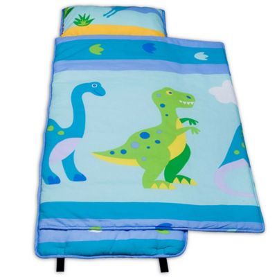 Olive Kids Dinosaur Land 100 Cotton Nap Mat In Blue Bed