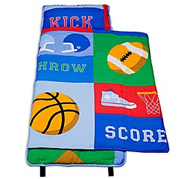 Olive Kids Game On 100% Cotton Nap Mat in Blue