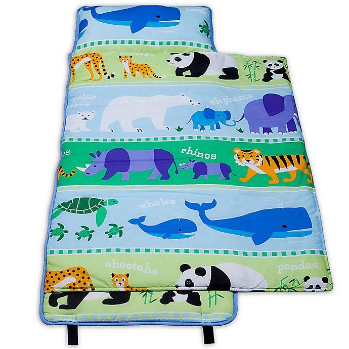 Alternate image 1 for Olive Kids Endangered Animals 100% Cotton Nap Mat in Green