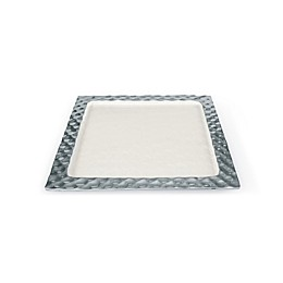 Julia Knight® Diamond 14-Inch Square Tray in Snow