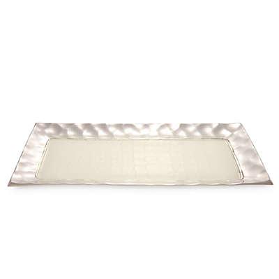 Julia Knight® Diamond 17.25-Inch Rectangular Tray in Snow