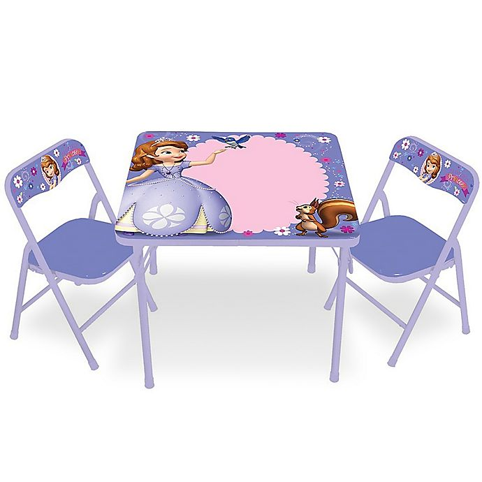 Sofia The First 3 Piece Activity Table And Chairs Bed Bath Beyond