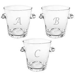 Susquehanna Glass Monogram Script Letter Ice Bucket