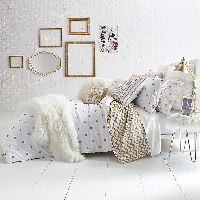 Glam Polka Dot Reversible Comforter Set Bed Bath Amp Beyond