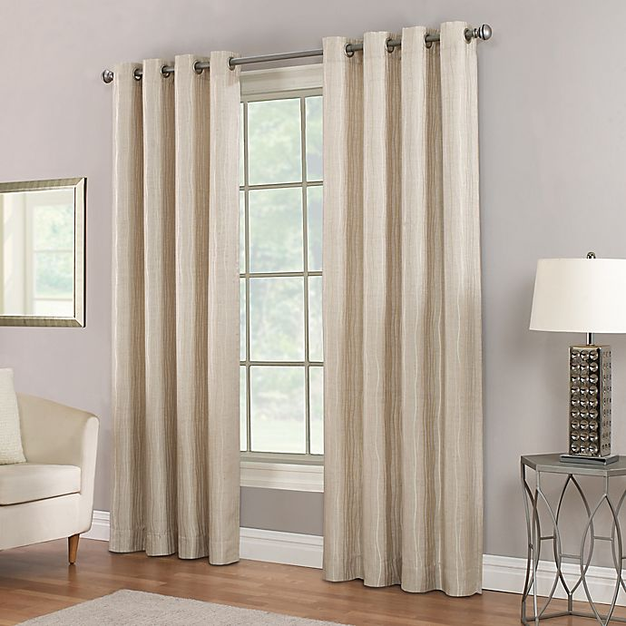 Alternate image 1 for Waterfall Grommet Top Window Curtain Panel