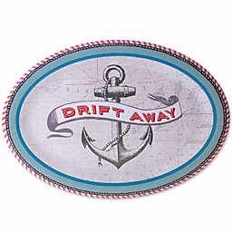 Drift Away Melamine Oval Serving Platter