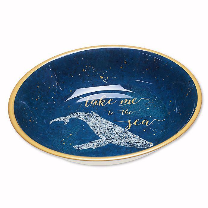 Alternate image 1 for Coastal Lace Melamine Serving Bowl in Navy