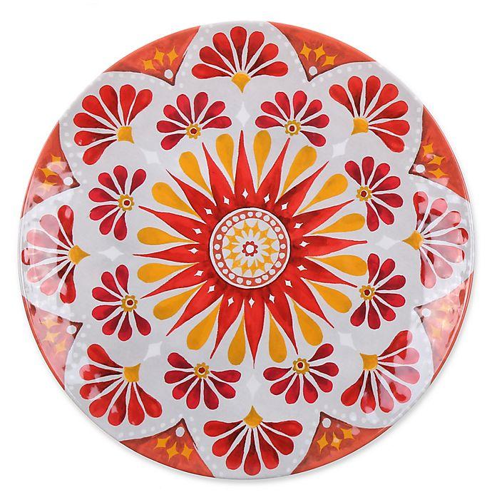 Alternate image 1 for Gypsy Grapefruit Melamine Textured Dinner Plate