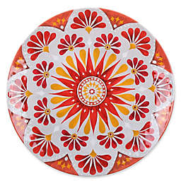 Gypsy Grapefruit Melamine Textured Dinner Plate