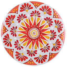 Gypsy Grapefruit Melamine Textured Round Platter