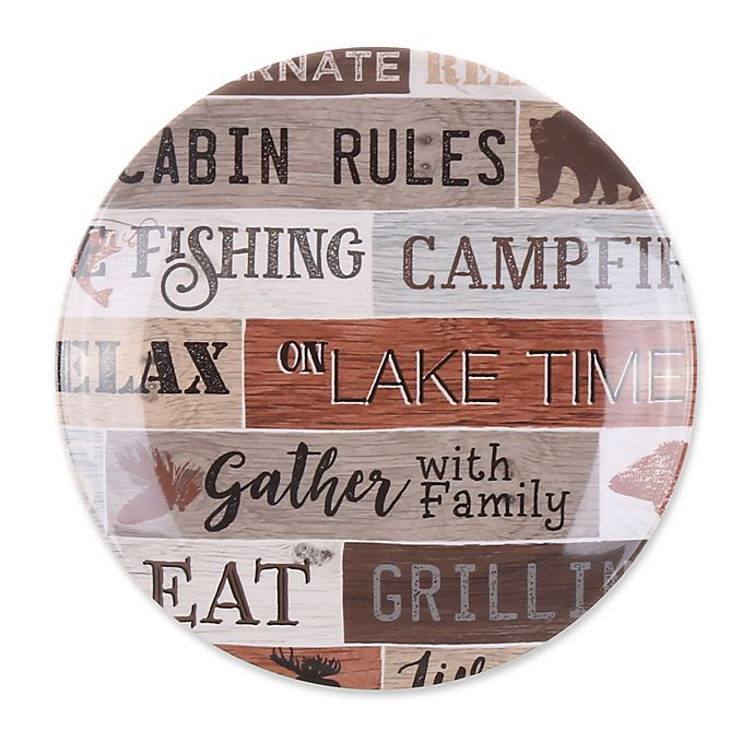 Cabin Life Signs Melamine Salad Plate in Brown | Bed Bath & Beyond