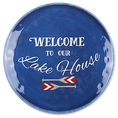 Welcome to Our Lake House Textured Dinner Plate