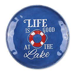 Life at the Lake Melamine Textured Salad Plate