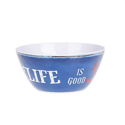 Welcome to Our Lake House Textured Cereal Bowl