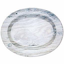 Glamping Melamine Oval Serving Platter in White