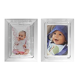 Galway Crystal 4-Inch x 6-Inch Baby Picture Frame