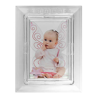 Galway Crystal 4-Inch x 6-Inch Baby Girl Picture Frame