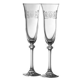 Galway Crystal Claddagh Ring Liberty Champagne Flutes (Set of 2)