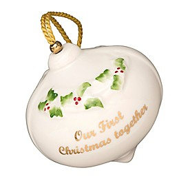 """Belleek Classic """"Our First Christmas"""" Ornament"""