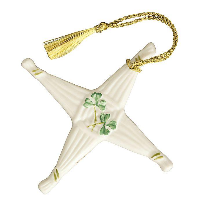 Alternate image 1 for Belleek Classic St. Brigid's Cross Ornament