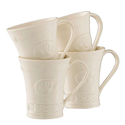 Belleek Claddagh Mugs (Set of 4)