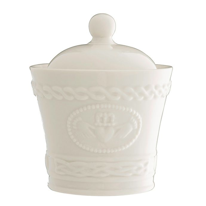 Alternate image 1 for Belleek Claddagh Covered Sugar Bowl