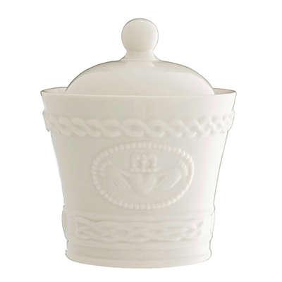 Belleek Claddagh Covered Sugar Bowl