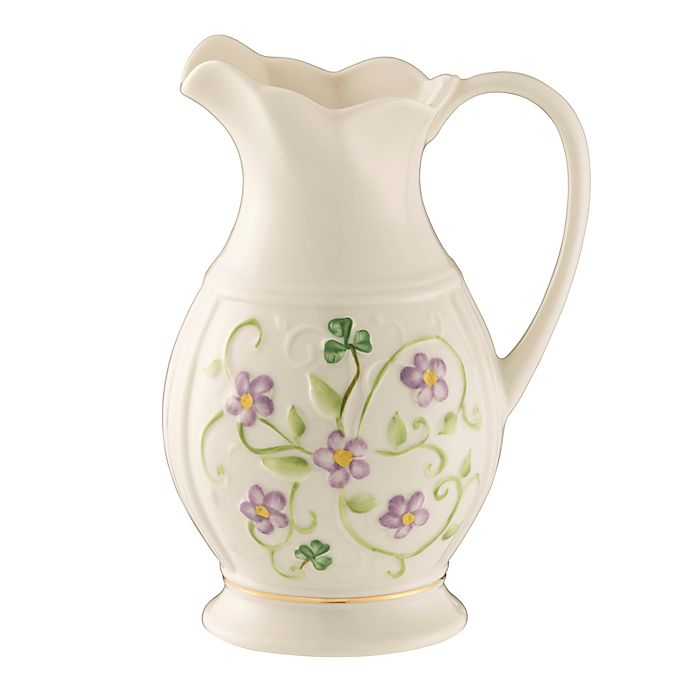 Alternate image 1 for Belleek Irish Flax Pitcher